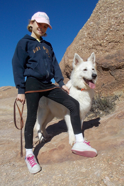 Alaska berger blanc suisse hiking